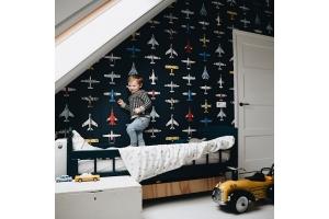 Jongenskamer met vliegtuigjes