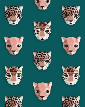Panthera behang groen