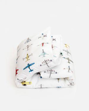 Vliegtuigjes dekbedovertrek - junior