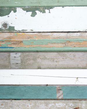 Sloophout behang groen