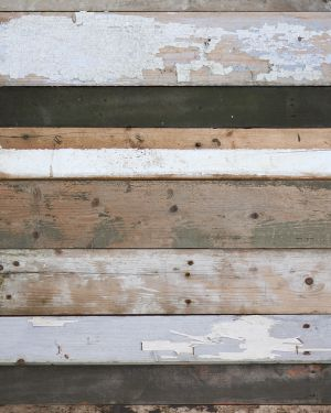 Sloophout behang zwart-wit