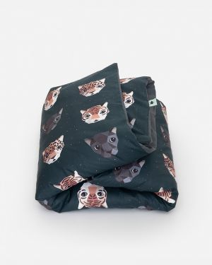 Panthera dekbedovertrek donker - 1 persoons