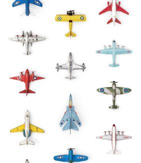Vliegtuigjes behang