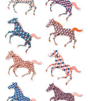 Paarden behang
