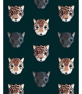 Panthera behang donker