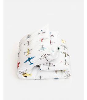 Vliegtuigjes dekbedovertrek - 1 persoons