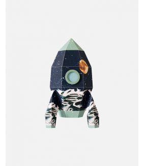 Raket muursticker maan - large