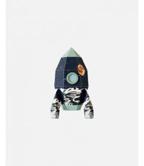 Raket muursticker maan - small