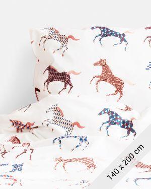 Paarden dekbedovertrek - 1 persoons