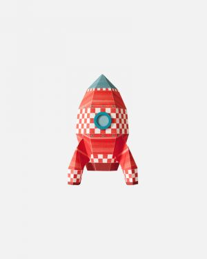 Raket muursticker blokjes - small