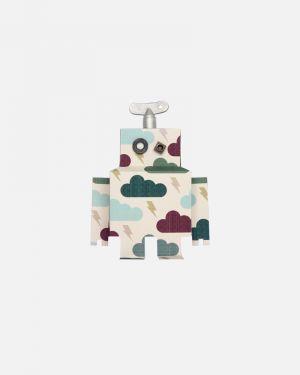 Robot muursticker donderwolk - small
