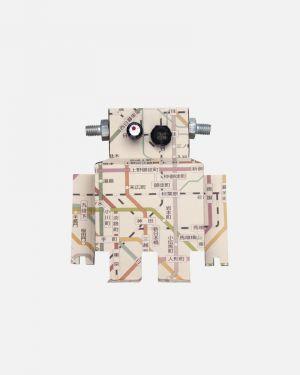 Robot muursticker metrokaart - large