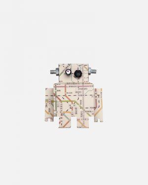 Robot muursticker metrokaart - small