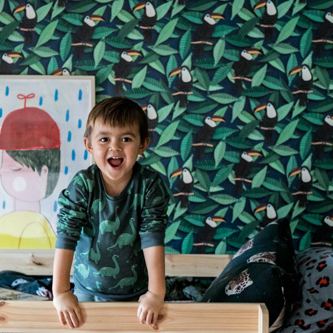 Jungle kinderkamer met toekans